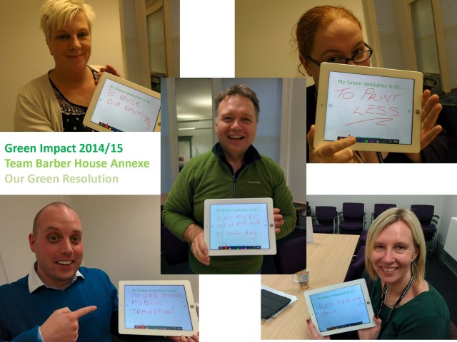 The Barber House Annexe team have lots of wonderful resolutions!